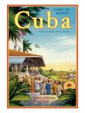 Cuba and American Jockey Giclée-Druck von Kerne Erickson