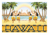 Rainbow Hawaii Giclée-tryk af Kerne Erickson