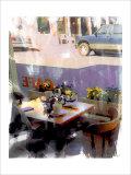 Nicolas Hugo - Afternoon Cafe, Venice Beach, California Digitálně vytištěná reprodukce