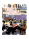 Afternoon Cafe, Venice Beach, California Giclee Print by Nicolas Hugo