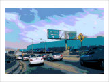 110 North Downtown Giclee Print by Steve Ash