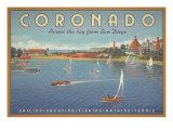 Coronado-stranda Giclee-trykk av Kerne Erickson