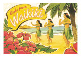 Aloha de Waikiki Reproduction proc&#233;d&#233; gicl&#233;e par Kerne Erickson