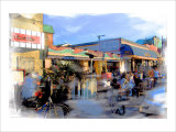 Baach Cafe, Venice, California Giclee Print by Nicolas Hugo