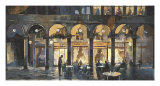 Grand Cafe Giclee Print by Marti Bofarull
