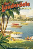 Erickson &quot;Fort Lauderdale&quot; Reproduction proc&#233;d&#233; gicl&#233;e par Kerne Erickson