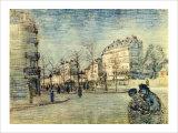 Boulevard de Clichy Giclee Print by Vincent van Gogh