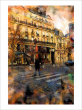 St. Germain Cross Walk, Paris, France Giclee Print by Nicolas Hugo