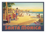 Visit Santa Monica Giclee Print by Kerne Erickson