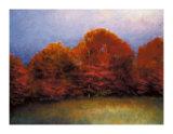 Scarlet Hillside Giclee Print by Robert Striffolino