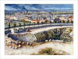 In the Suburbs of Paris Giclee Print by Vincent van Gogh