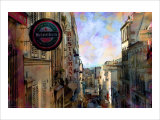 Street View at Montmartre, Paris, France Giclee Print by Nicolas Hugo