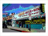 Liquor Beer Wine, Venice Beach, California Giclee Print by Steve Ash