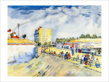 The Walls of Paris Giclee Print by Vincent van Gogh