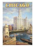 Chicago Gicléetryck av Kerne Erickson