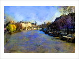 View from Pont des Arts, Paris, France Giclee Print by Nicolas Hugo
