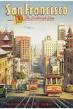 Lindberglinjen, San Francisco, Kalifornien|The Lindbergh Line, San Francisco, California Gicléetryck av Kerne Erickson