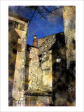 Village in the Winter Sky, Paris, France Giclee Print by Nicolas Hugo