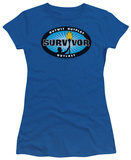 Juniors: Survivor - Blue Burst T-shirts