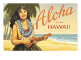 Aloha from Hawaii Gicle-tryk af Kerne Erickson