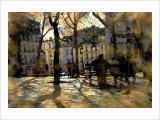 Winter in Montmartre, Paris, France Giclee Print by Nicolas Hugo