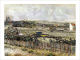 Harvest in the Crau Giclee Print by Vincent van Gogh