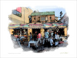 26 Beach Cafe, Venice Beach, California Giclee Print by Nicolas Hugo