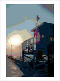 Pier, Venice Beach, California Giclee Print by Steve Ash