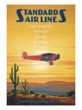 Standard Airlines, El Paso, Texas Giclee Print by Kerne Erickson