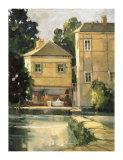 Pont Aven Cafe Giclée-tryk af Ted Goerschner