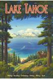 Tahoejärvi Giclee-vedos tekijänä Kerne Erickson