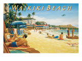 Waikiki Beach Giclee Print by Kerne Erickson