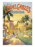 Visit Coral Gables, Florida Giclee Print by Kerne Erickson