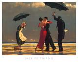 Den syngende butler Kunst af Jack Vettriano