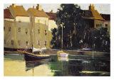 French Harbor Giclée-tryk af Ted Goerschner