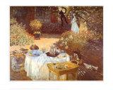 Le Dejeuner Poster por Claude Monet