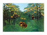 The Tropics Art by Henri Rousseau