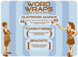 Punctuation: Word Wraps Posters by Christopher Rice