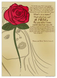 Romeo and Juliet: A Rose Poster van Christopher Rice