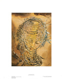 Raphaelesque Head Exploded Gicleetryck av Salvador Dalí