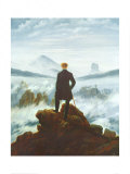 Wędrowiec ponad morzem mgły, ok. 1818 (The Wanderer Above the Sea of Fog, c.1818) Plakaty autor Caspar David Friedrich