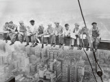 Lunch Atop a Skyscraper, c.1932 Art by Charles C. Ebbets