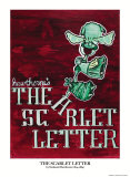 Scarlet Letter Book Cover, Nathaniel Hawthorne, Giclee Print
