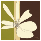 Cream Flower Burst Print by Debbie Halliday