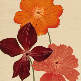 Orange Flower Art by Kate Knight