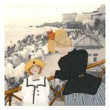 Un Dimanche a St-Malo Posters by Diane Ethier