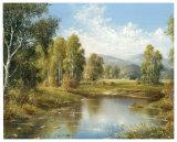 River Landscape Poster by H. Buchner