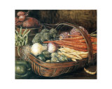 The Vegetable Basket Art by Jeanette Trépanier