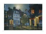 Night in Old Montreal Print by Denis Nolet
