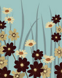 Blue Daisy Meadow Affiches par Kate Knight